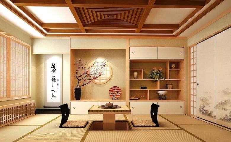 Casa tradizionale giapponese tatami kebana kakemono