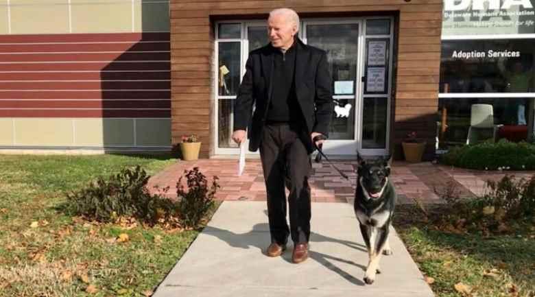 Cominciamo bene Biden si è rotto un piede giocando col cane2