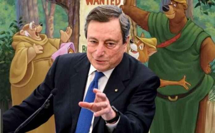 Draghi, stop alla tassa di successione: il Robin Hood al contrario