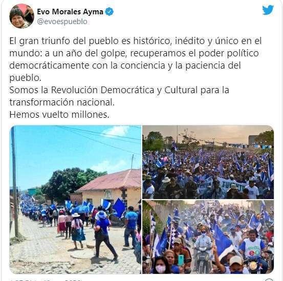Evo Morales commenta il trionfo. Intanto la Bolivia non esiste per l'Italia.