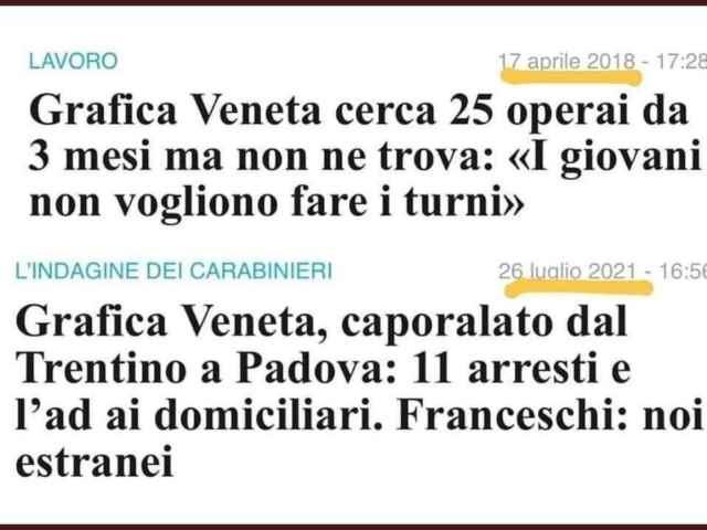 Il paradigma Grafica Veneta: tecnicamente siamo proprio allo schiavismo