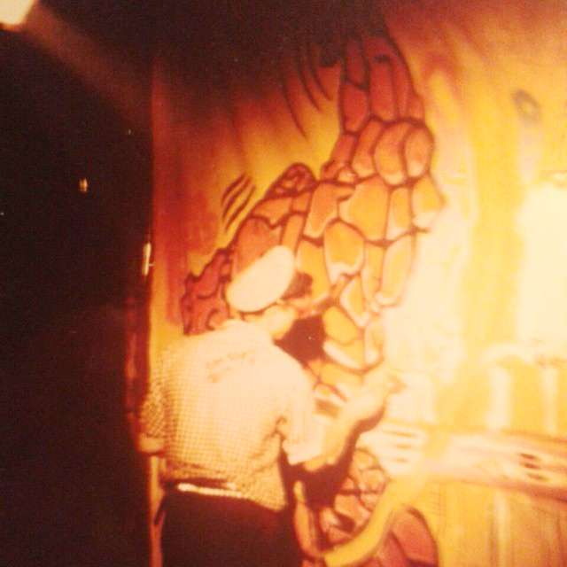 La Cosa a San Pietro. Action Painting in Discoteca _Black Out, Roma 1983