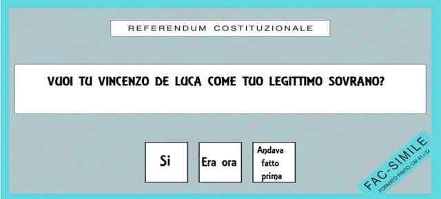 Vincenzo De Luca sarò il nuovo Mao-tsè-Tung
