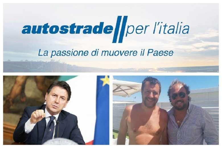 Autostrade: Conte insiste, Atlantia crolla in borsa, Salvini va al Papeete