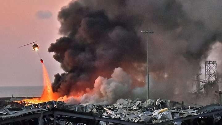 Beirut, dopo l'esplosione l'inferno
