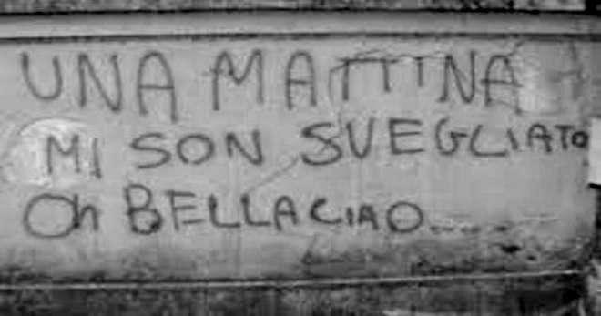 Bella Ciao - scritta su muro