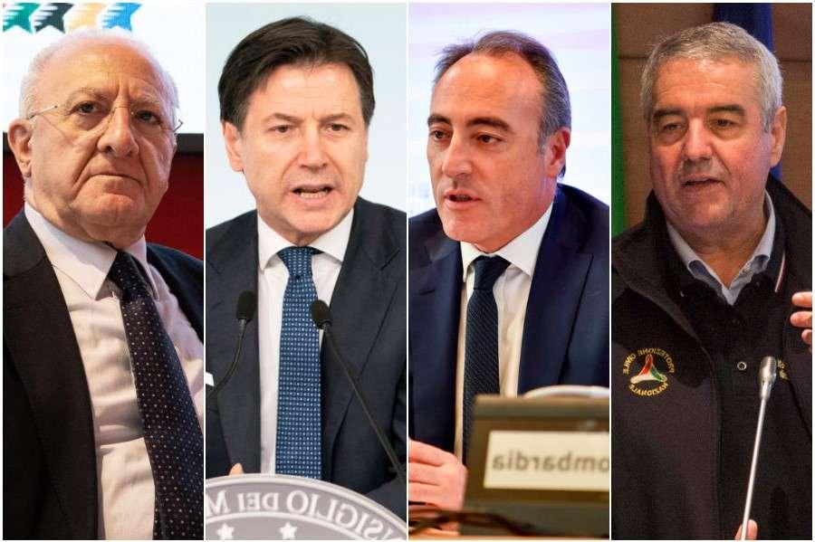 Deluca, Conte, Gallera, Borrelli