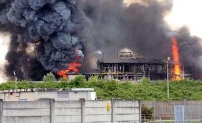 Incendio alla 3V Sigma di Portomarghera