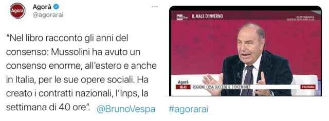 """In Italia siamo ancora fermi al """"Mussolini ha fatto anche cose buone"""""""